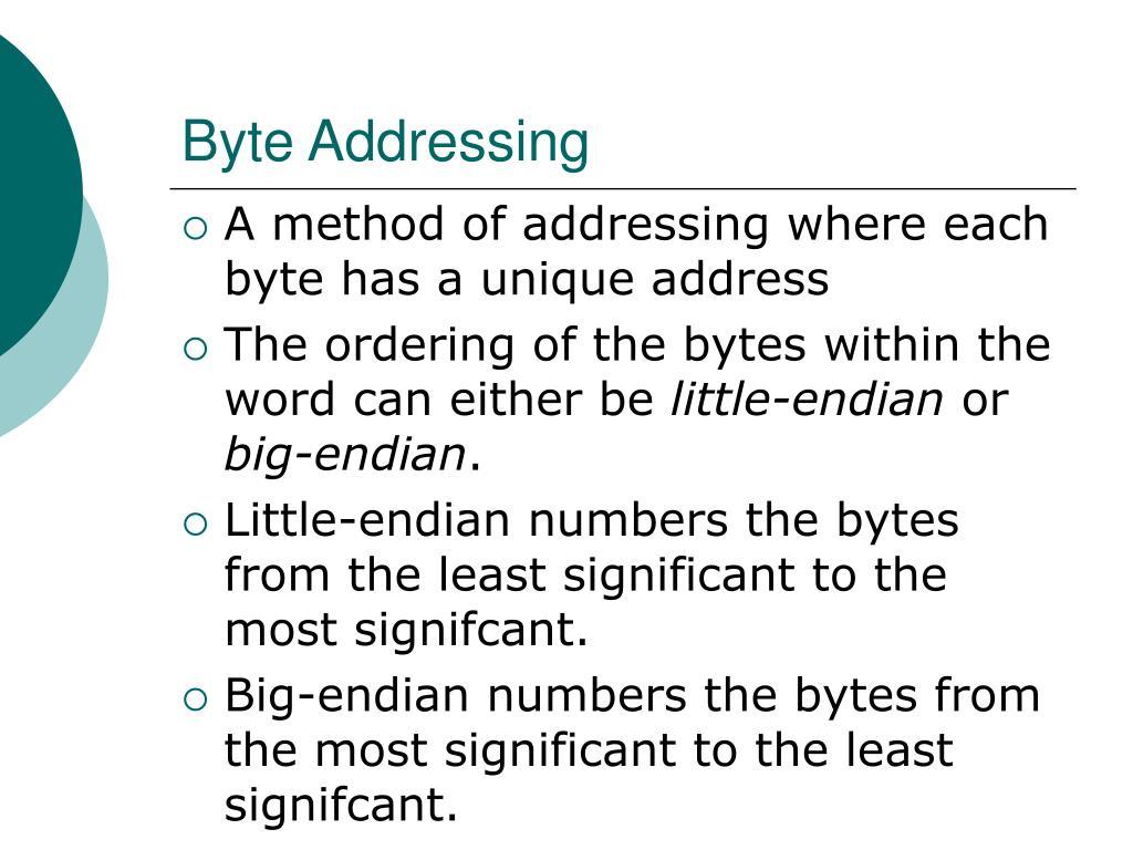 Byte Addressing