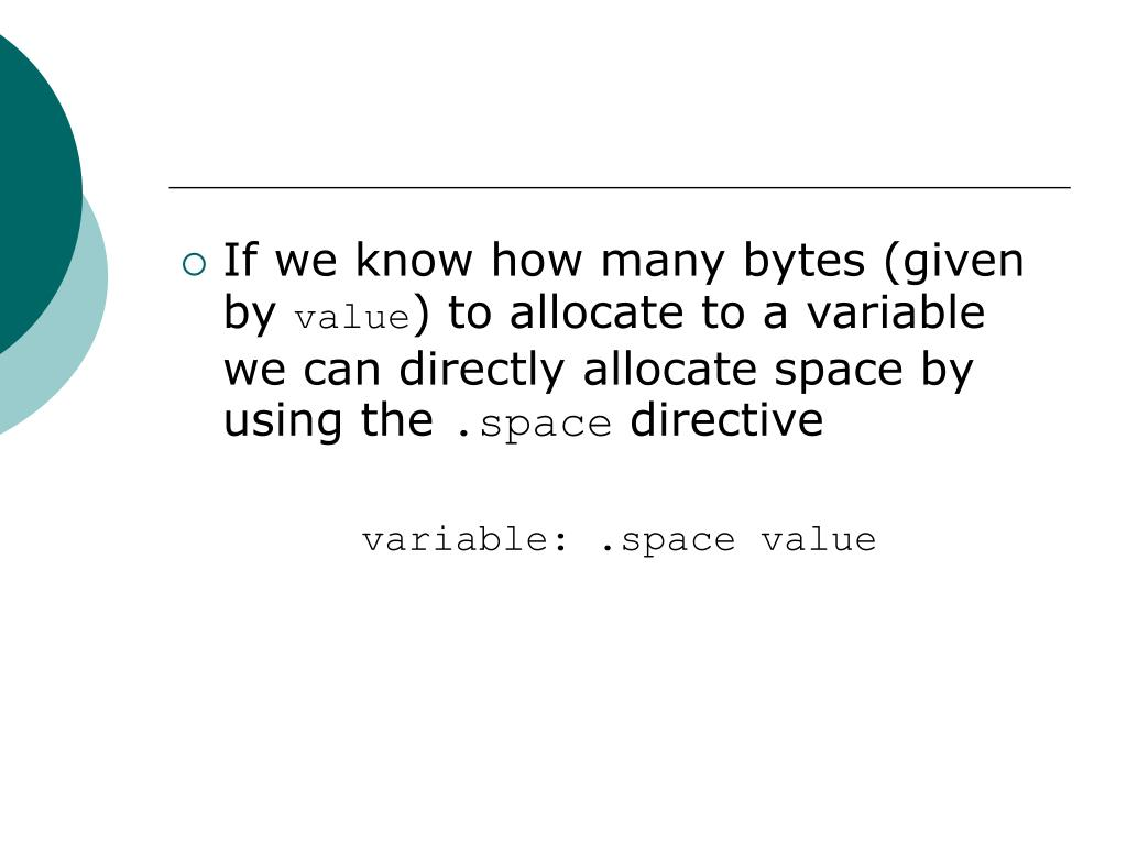 If we know how many bytes (given by