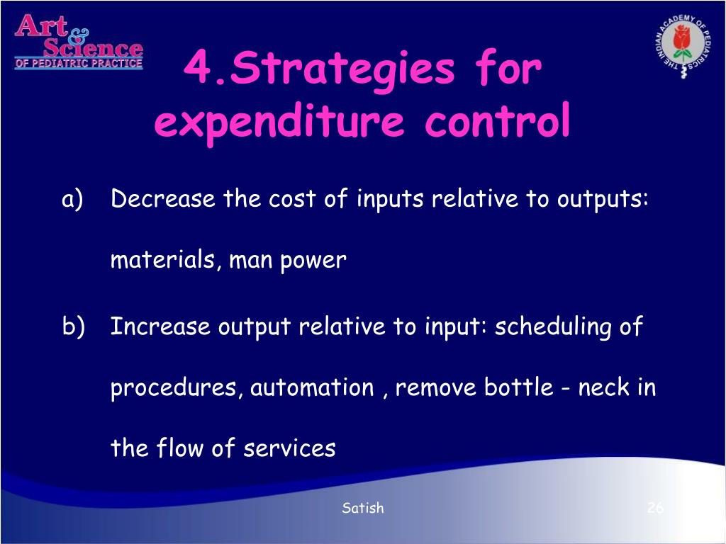 4.Strategies for expenditure control