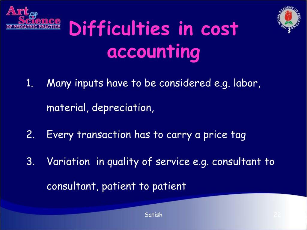 Difficulties in cost accounting
