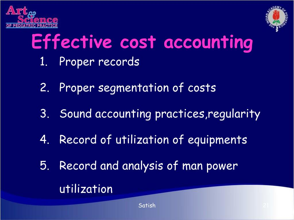 Effective cost accounting