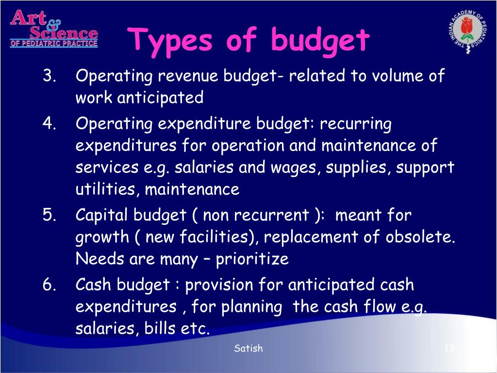 Types of budget