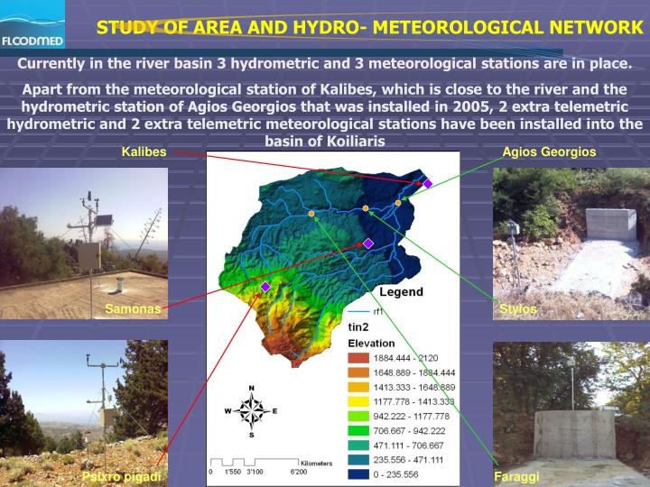 STUDY OF AREA AND HYDRO- METEOROLOGICAL NETWORK