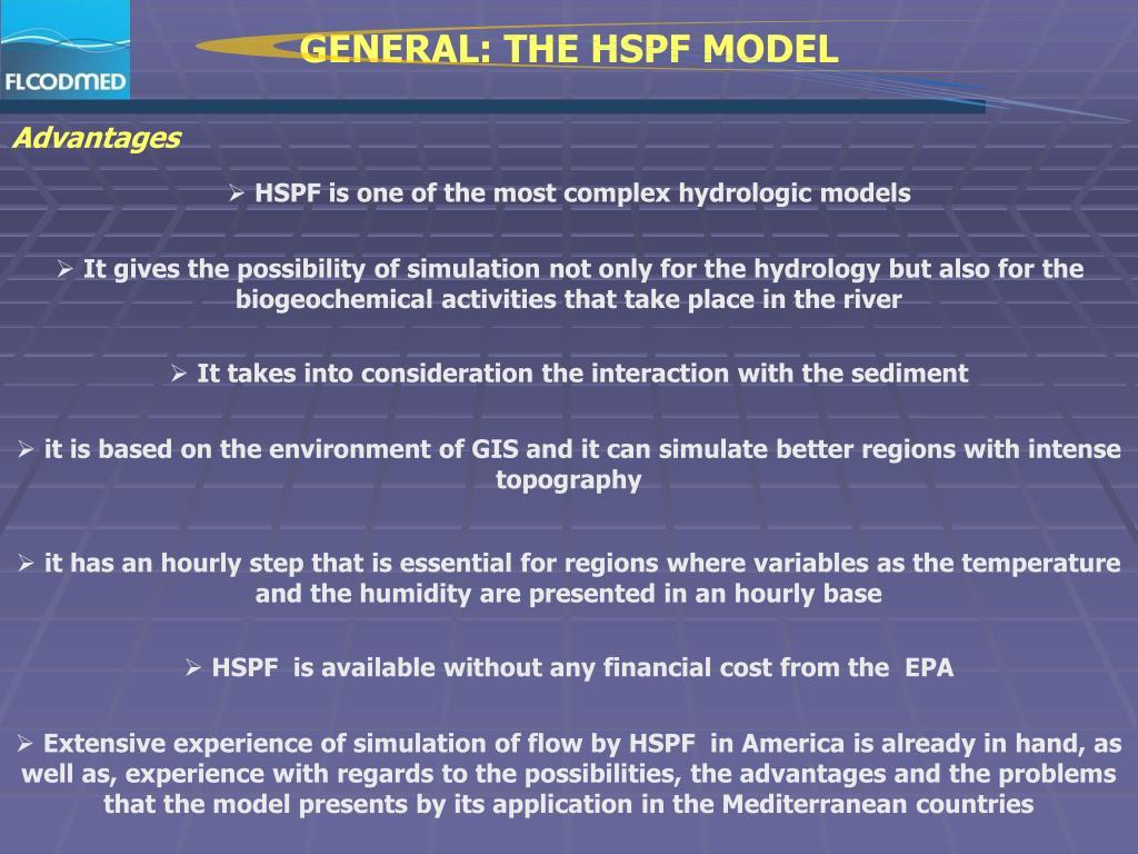 GENERAL: THE HSPF MODEL