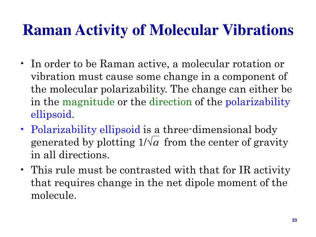 Raman Activity of Molecular Vibrations
