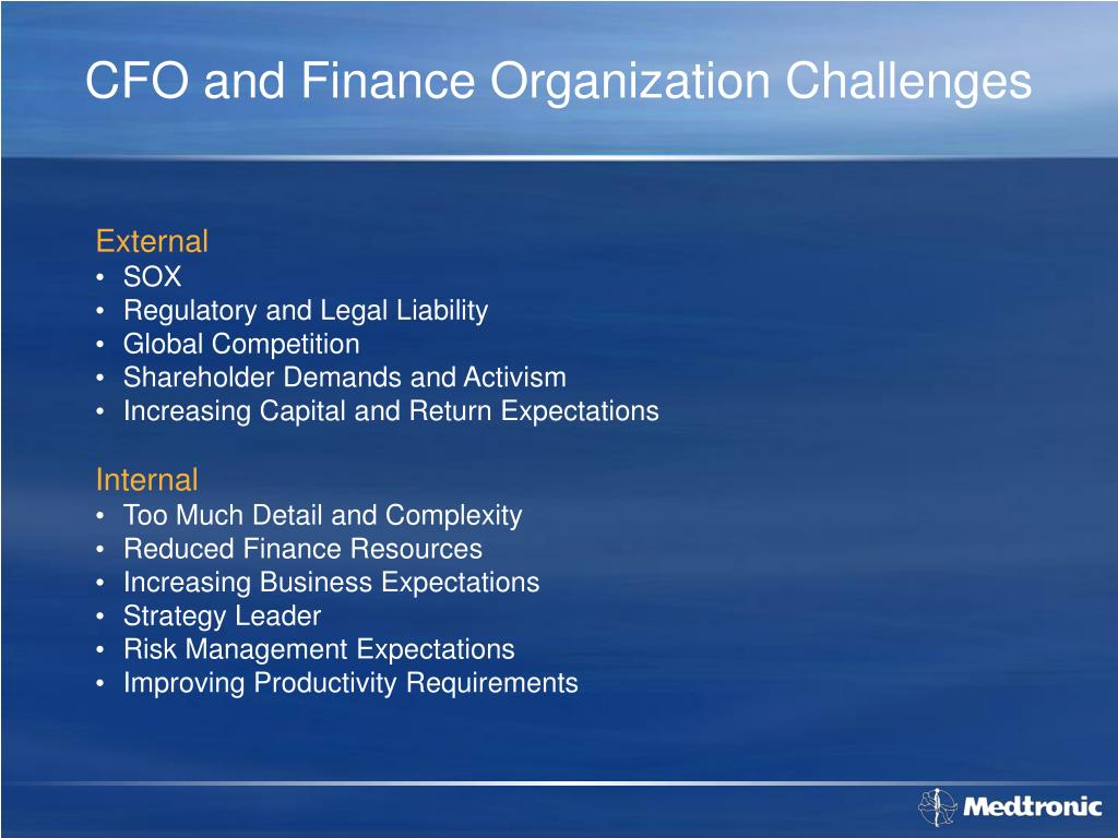 CFO and Finance Organization Challenges