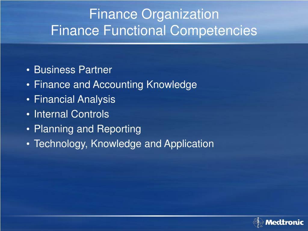 Finance Organization