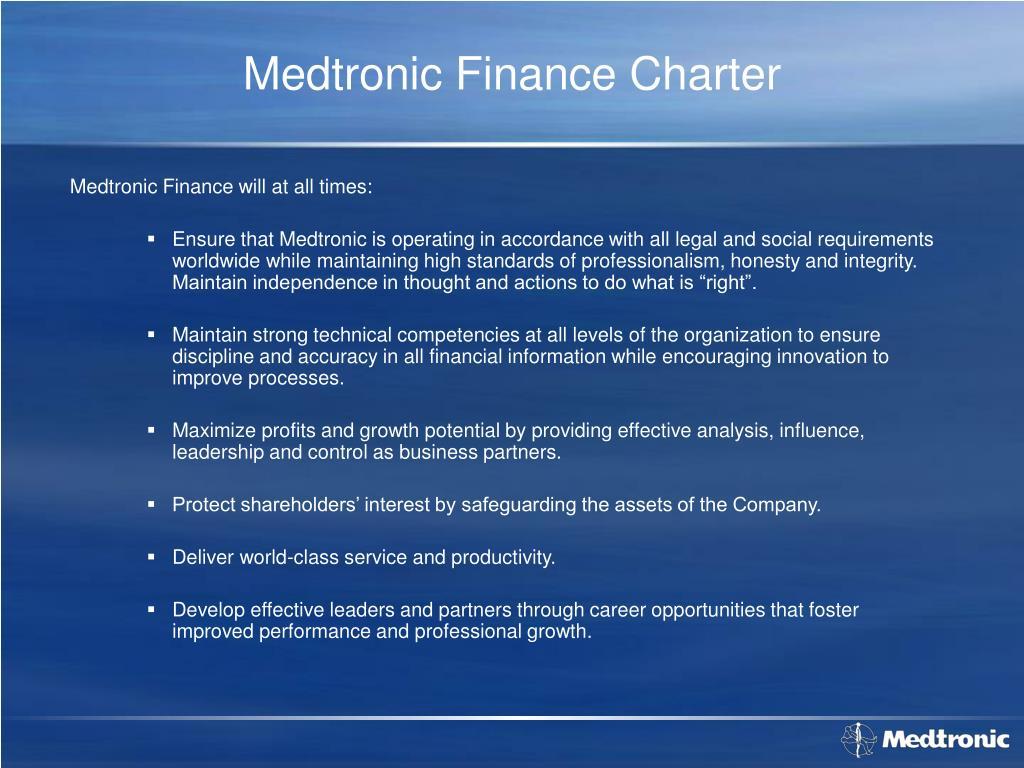 Medtronic Finance Charter
