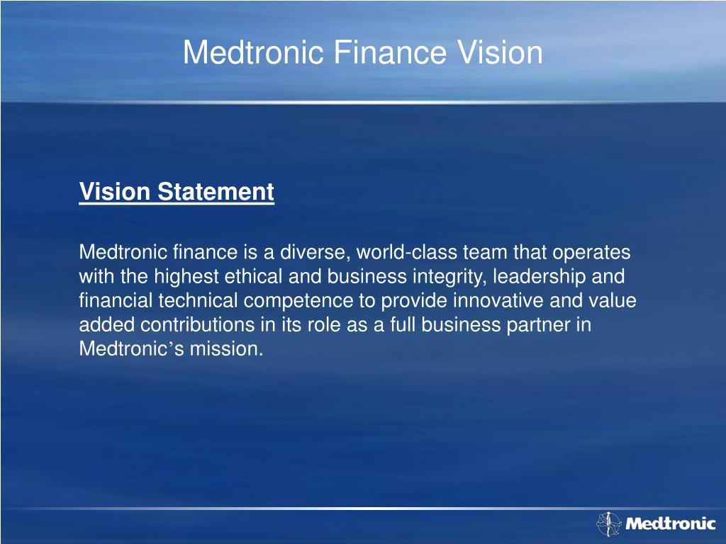 Medtronic Finance Vision