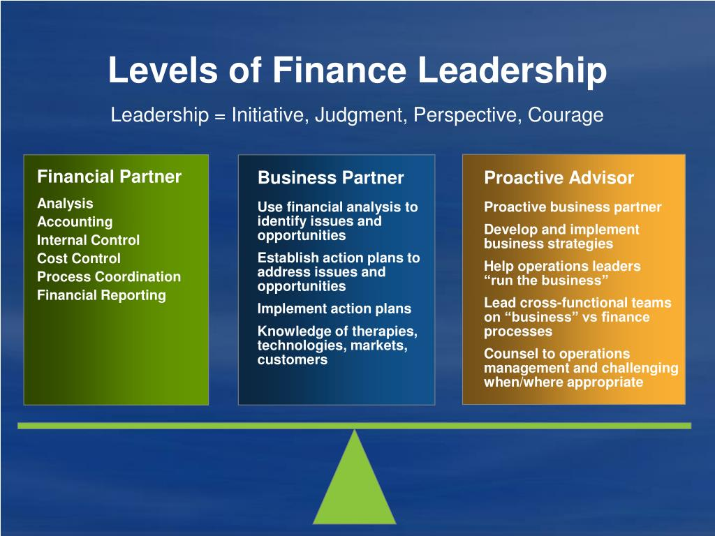 Levels of Finance Leadership