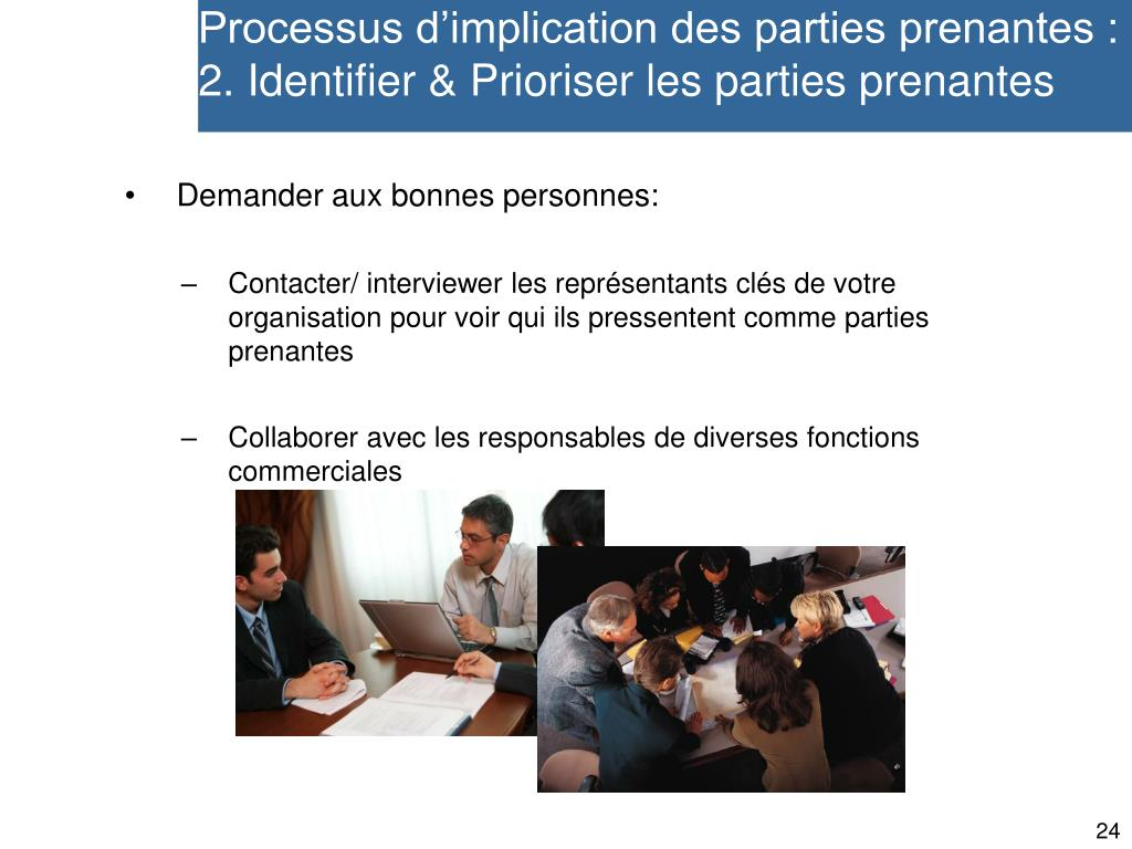 Processus d'implication des parties prenantes :
