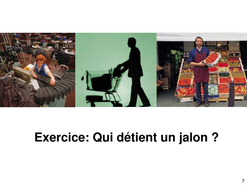 Exercice: Qui détient un jalon