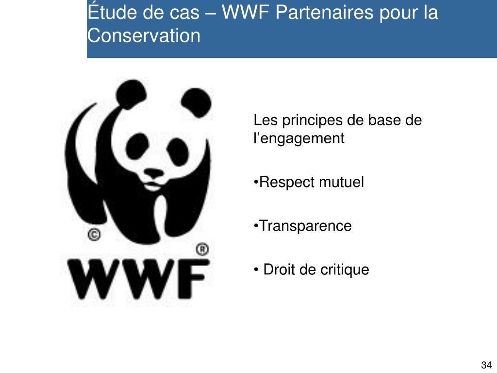 Étude de cas – WWF Partenaires pour la Conservation