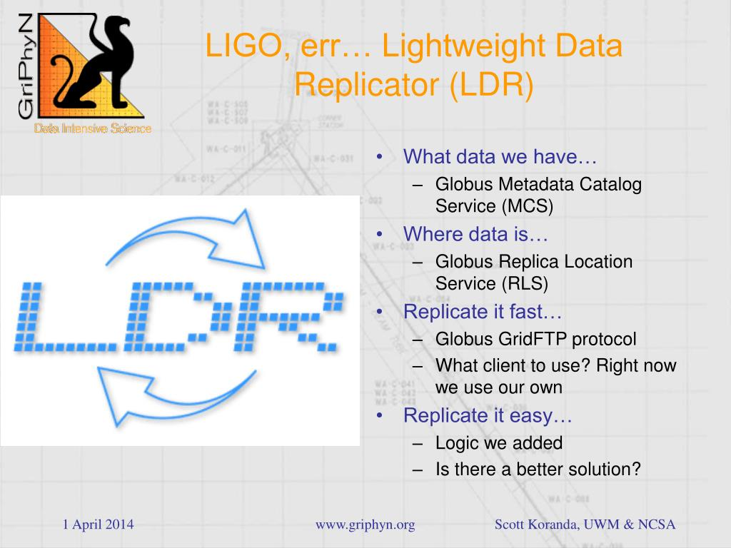 LIGO, err… Lightweight Data Replicator (LDR)