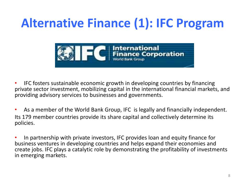 Alternative Finance (1): IFC Program