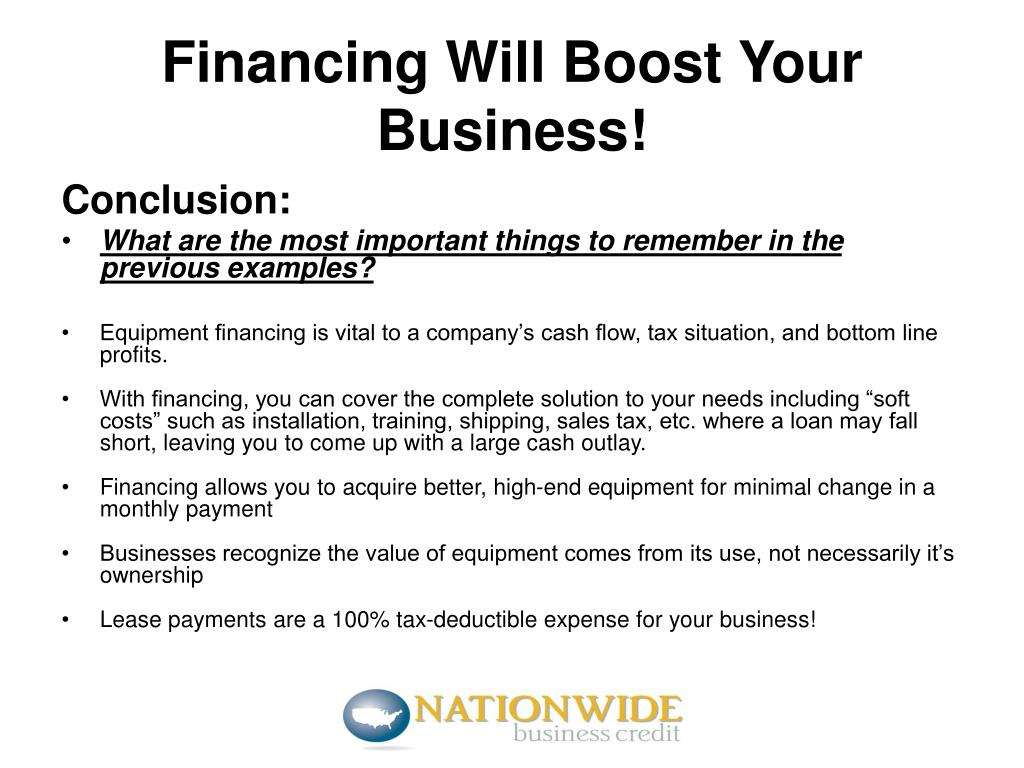 Financing Will Boost Your Business!