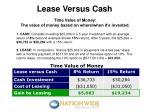 lease versus cash