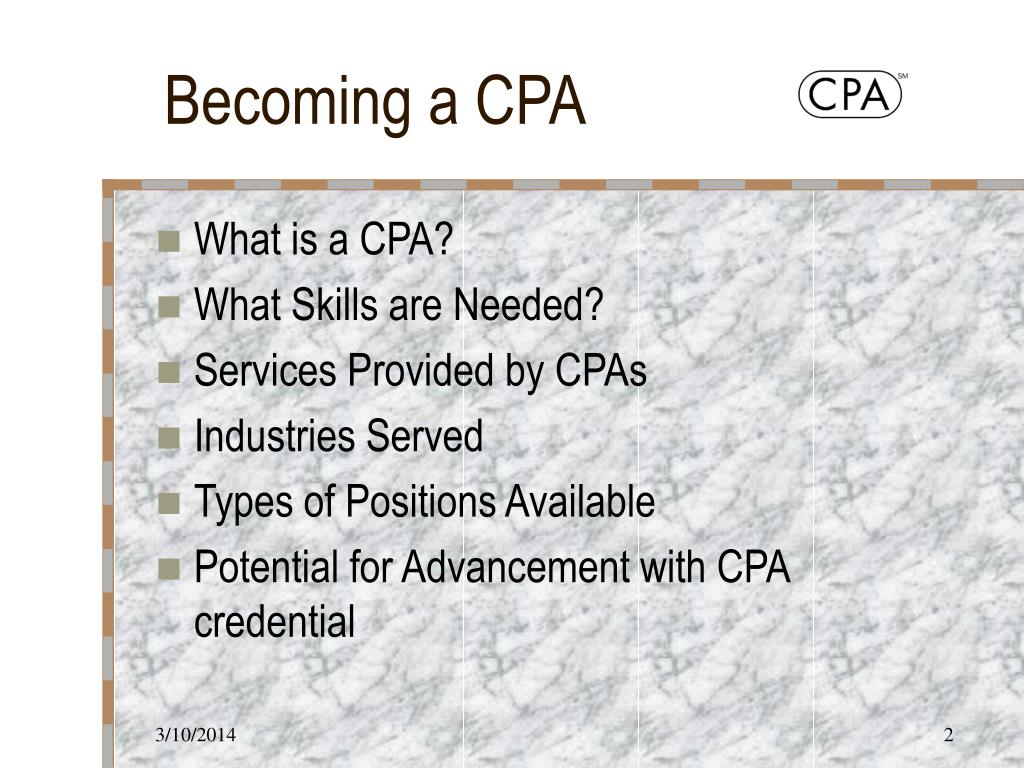 Becoming a CPA