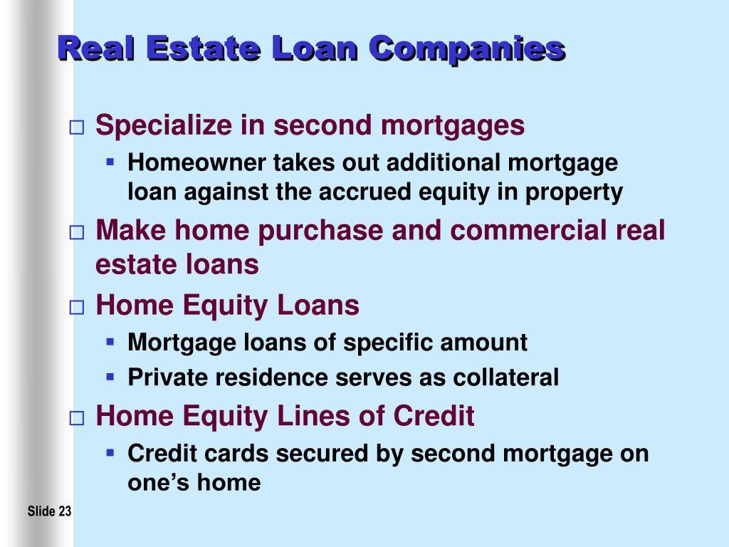 Real Estate Loan Companies