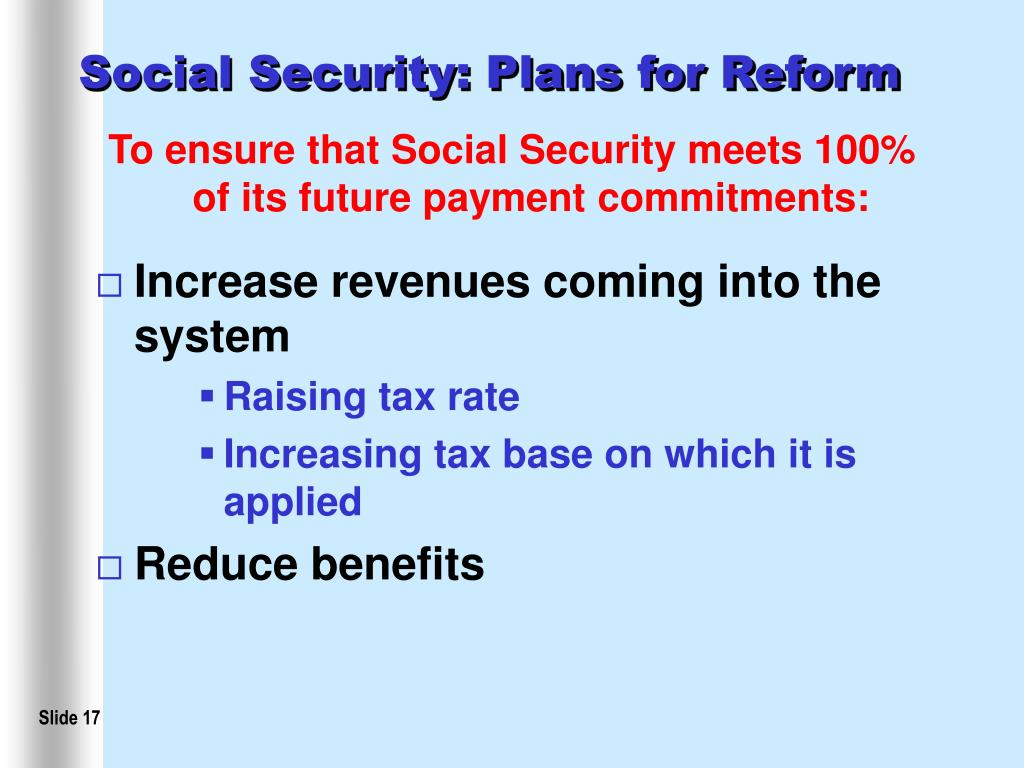 Social Security: Plans for Reform