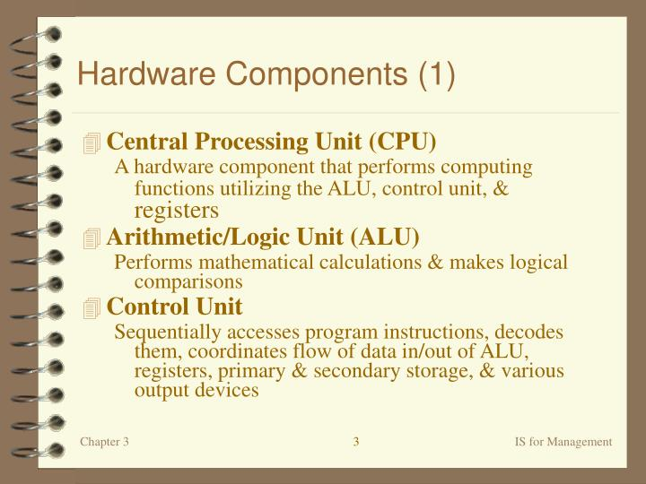 Hardware components 1