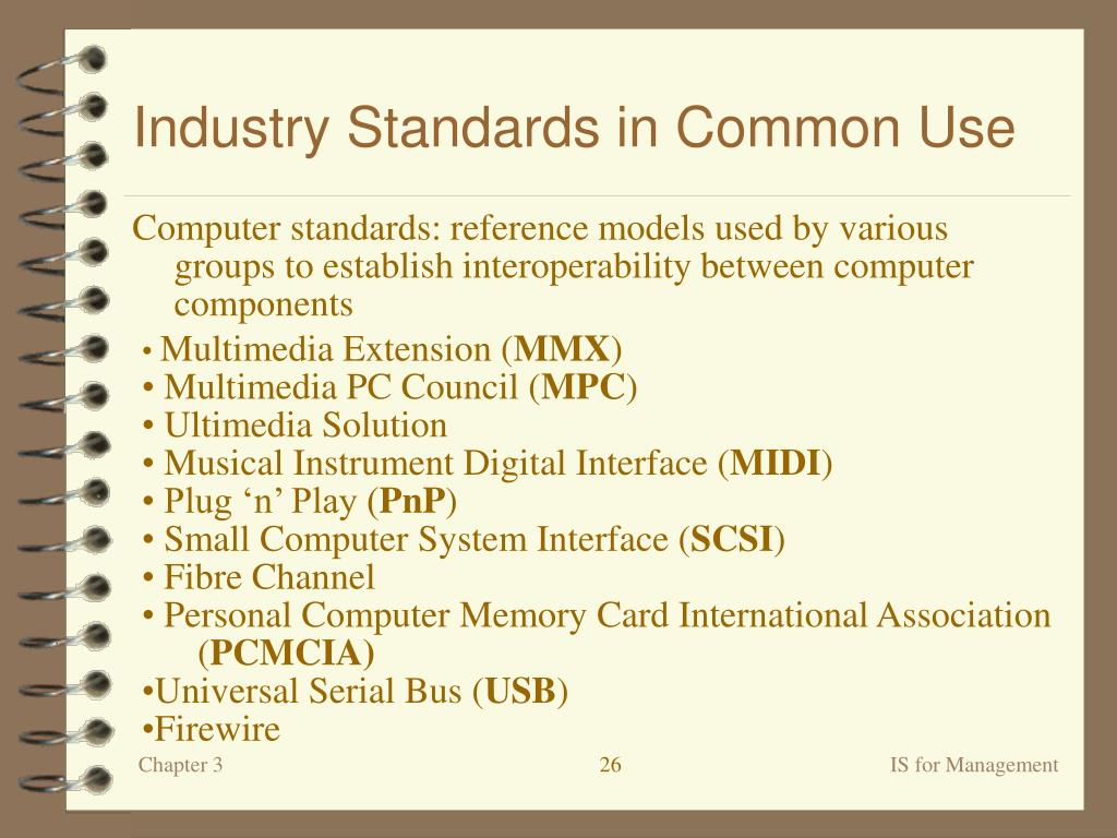 Industry Standards in Common Use