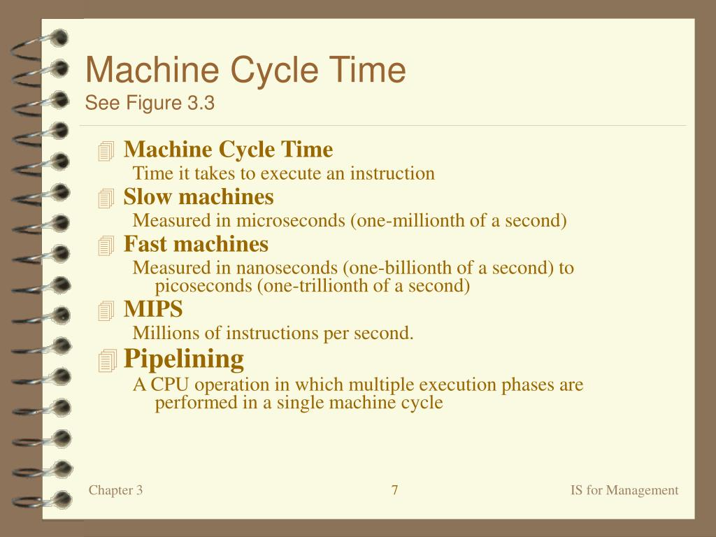 Machine Cycle Time