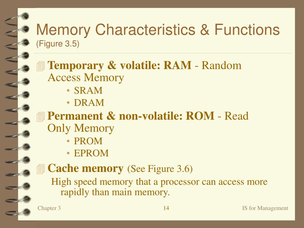 Memory Characteristics & Functions