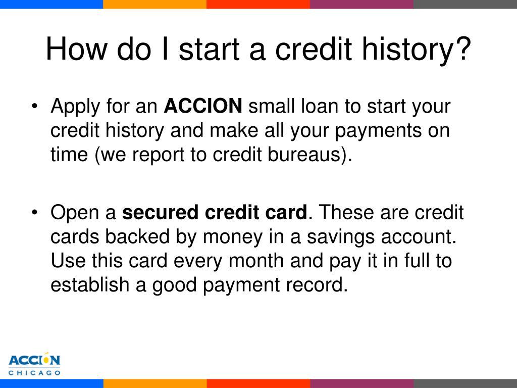 How do I start a credit history?