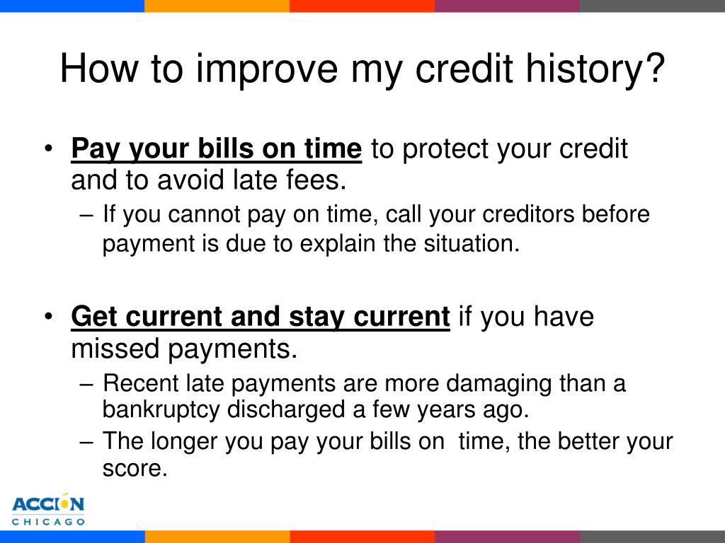 How to improve my credit history?
