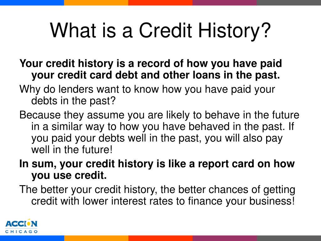 What is a Credit History?