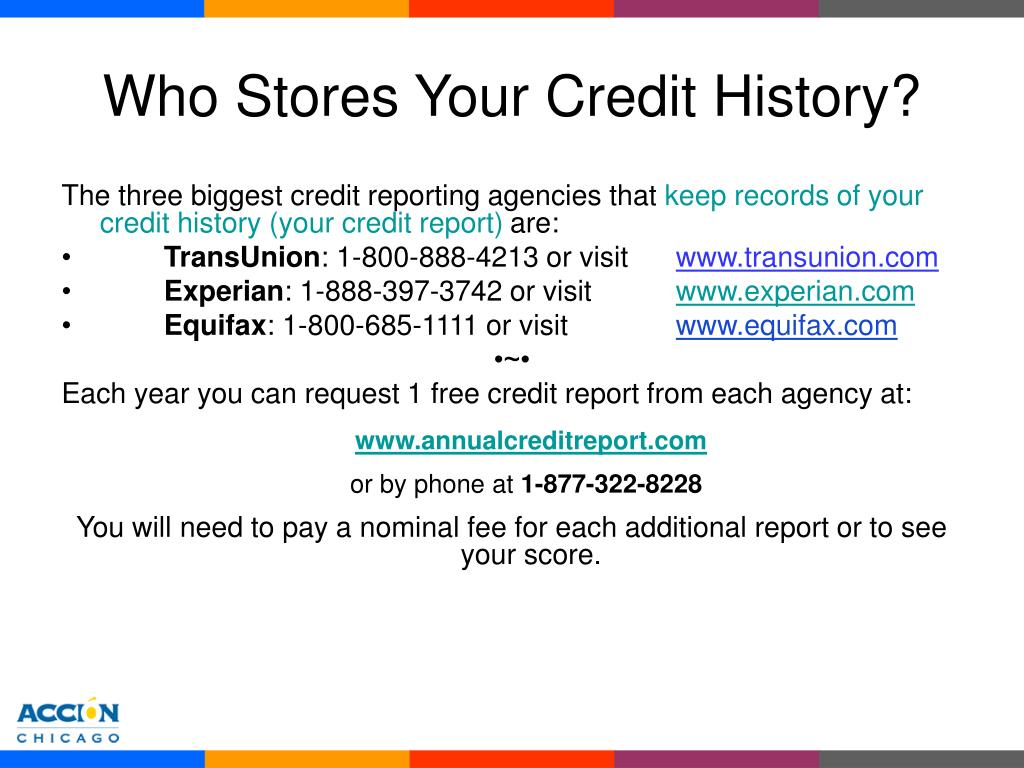 Who Stores Your Credit History?