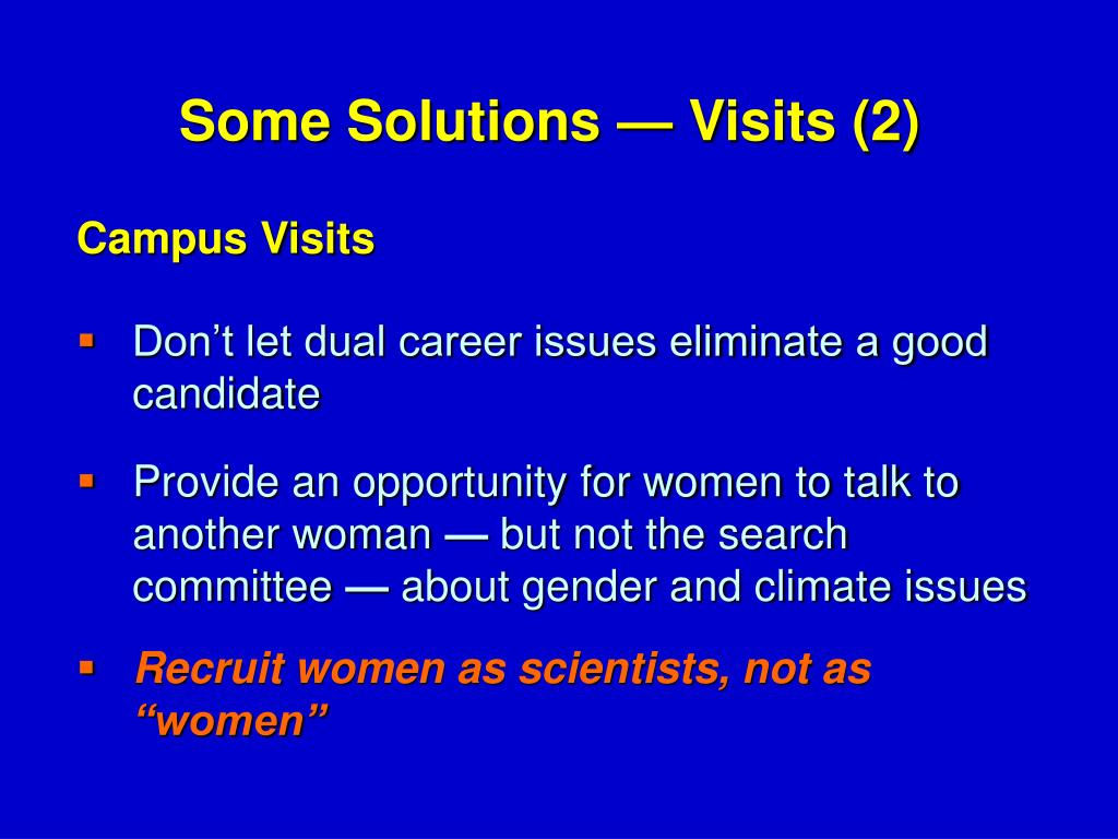 Don't let dual career issues eliminate a good candidate