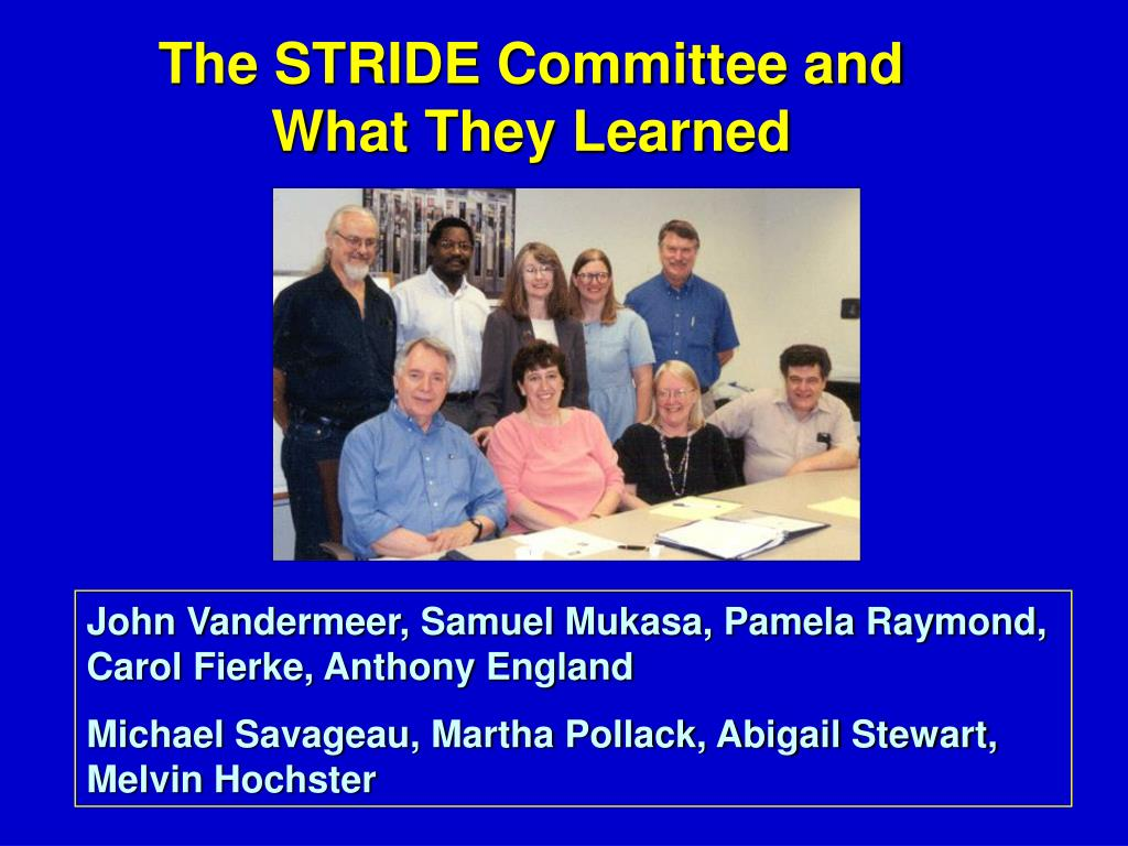 The STRIDE Committee and