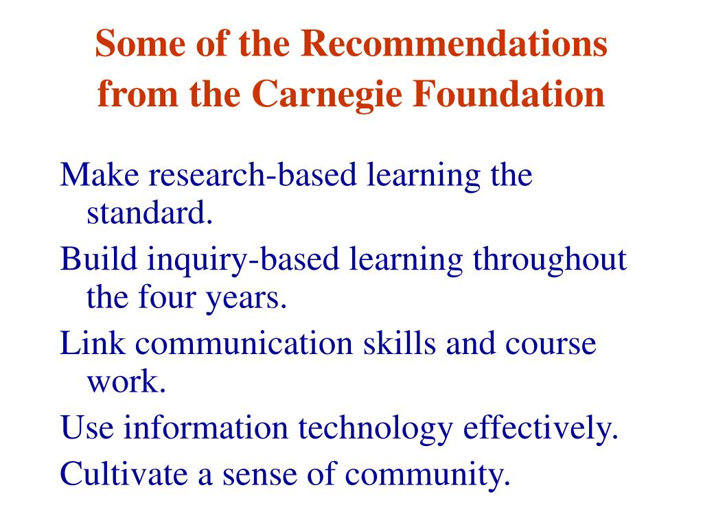 Some of the Recommendations