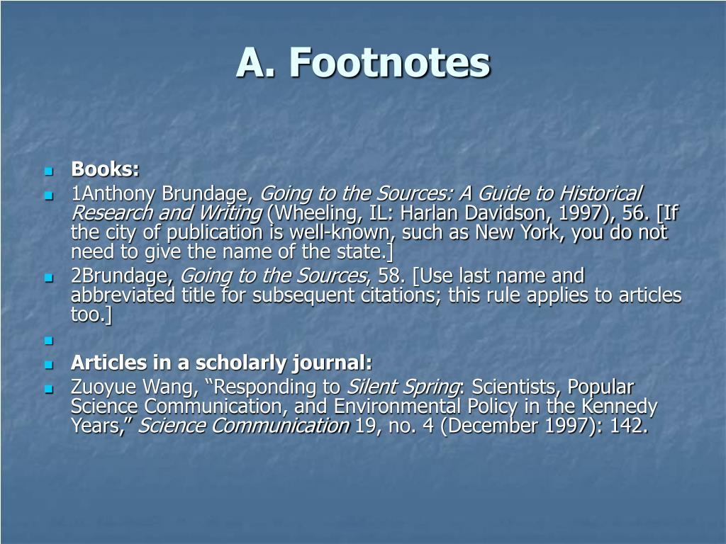 A. Footnotes