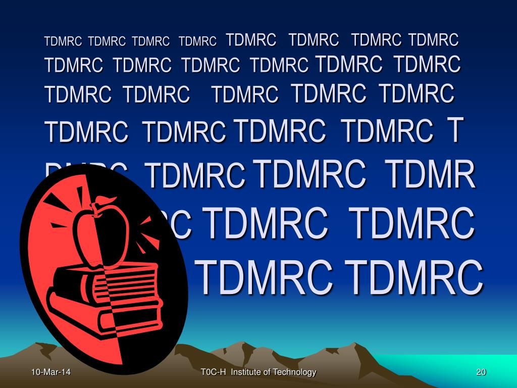 TDMRC  TDMRC  TDMRC   TDMRC
