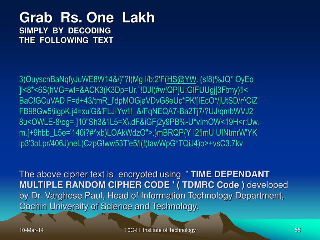 Grab  Rs. One  Lakh