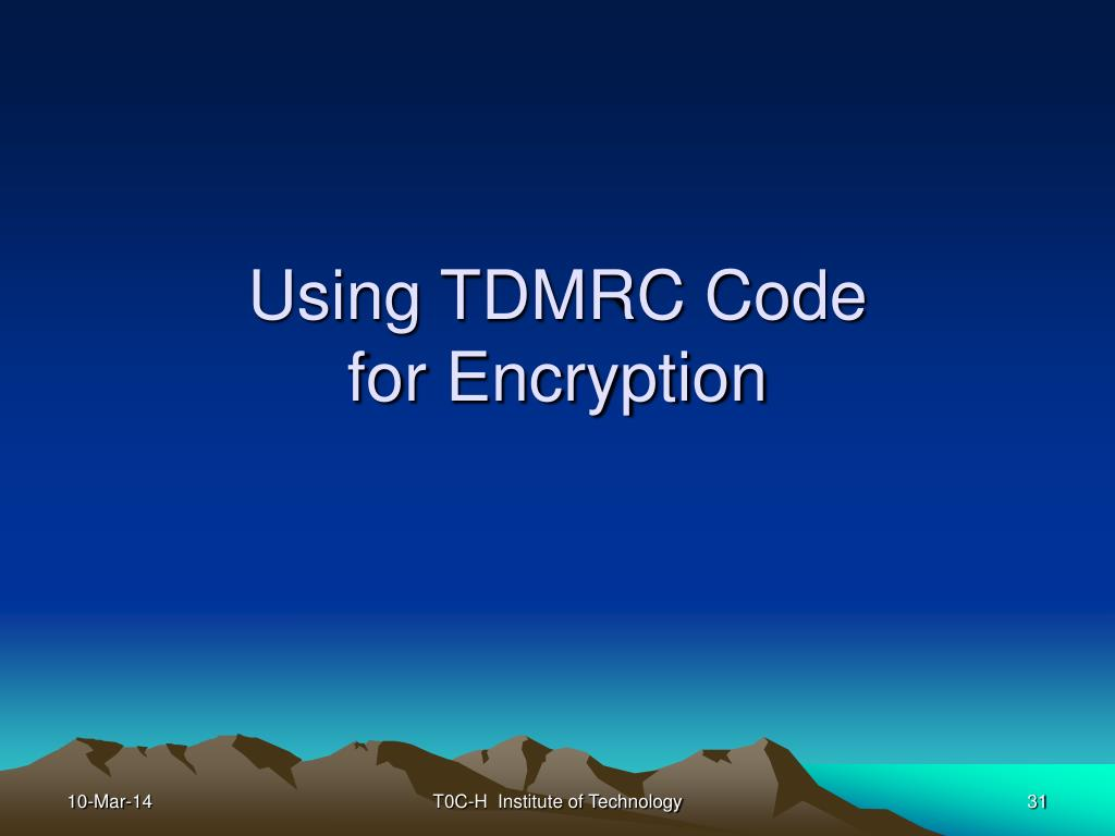 Using TDMRC Code