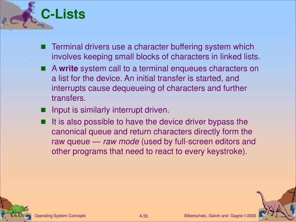C-Lists