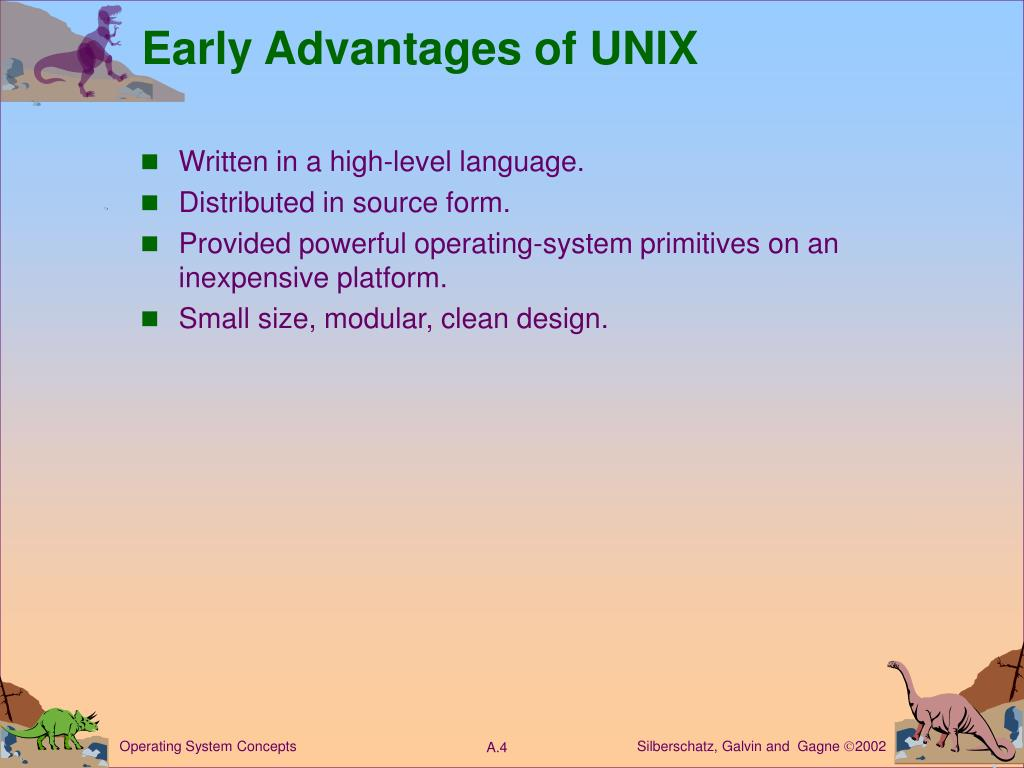 Early Advantages of UNIX