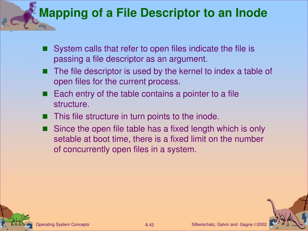 Mapping of a File Descriptor to an Inode