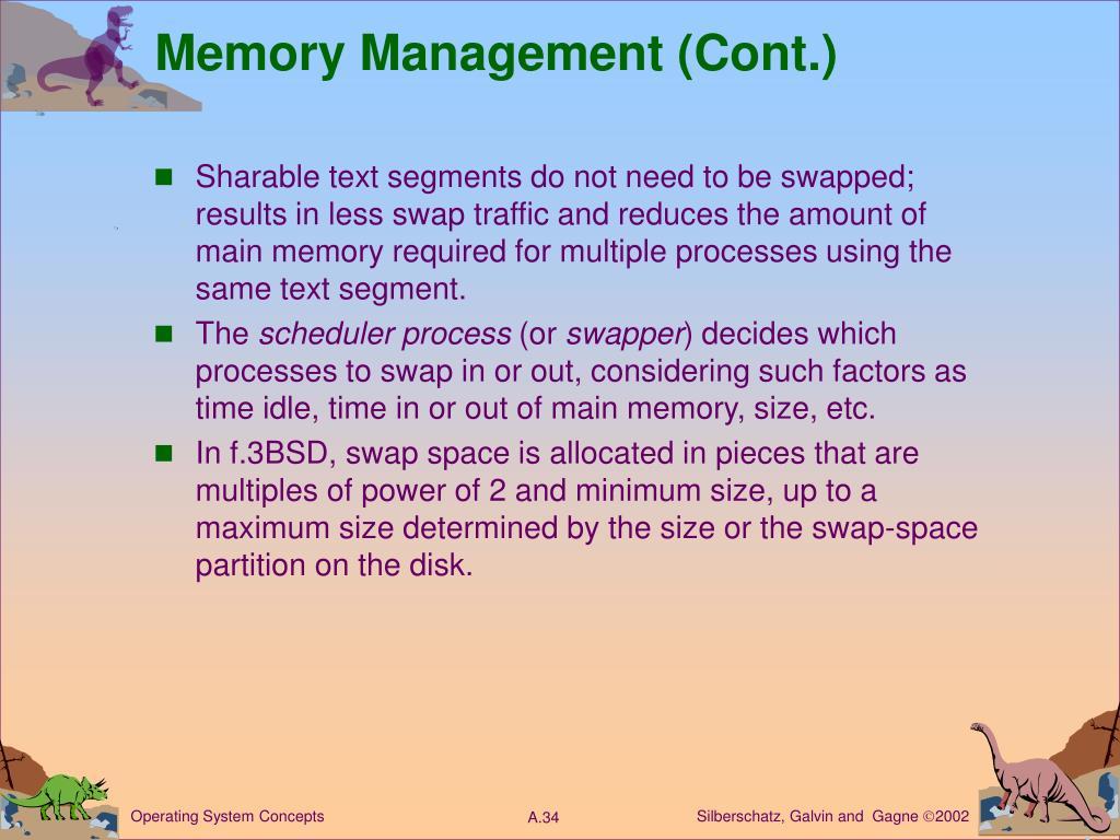 Memory Management (Cont.)