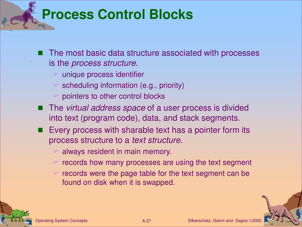 Process Control Blocks