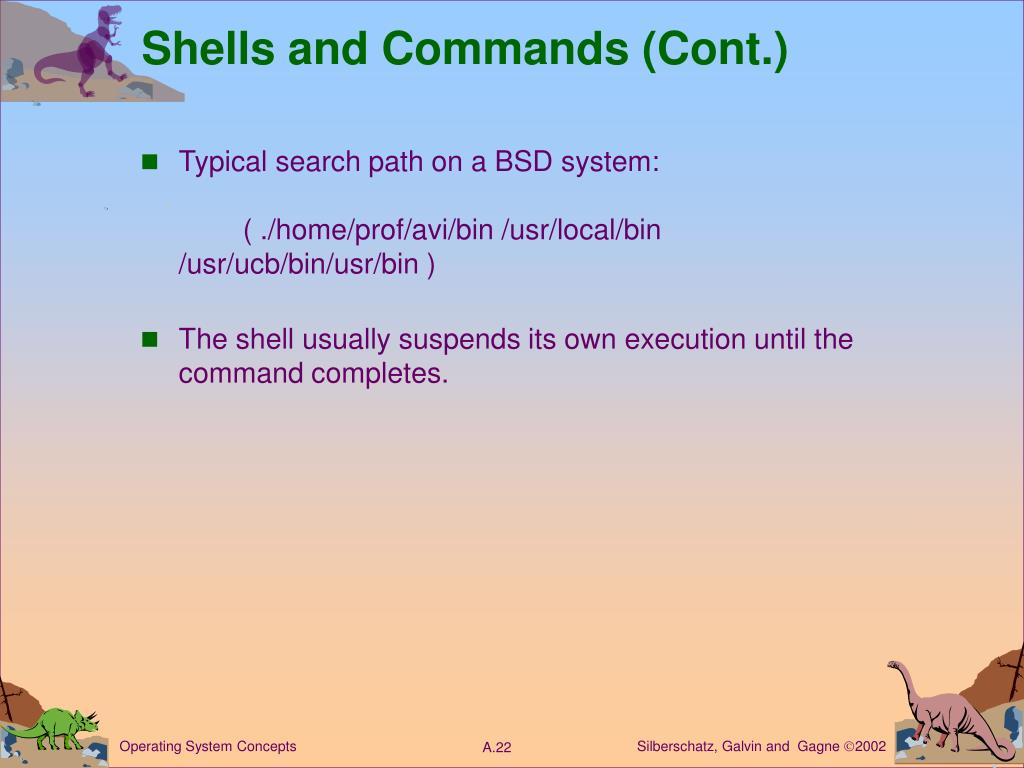 Shells and Commands (Cont.)