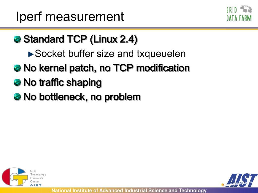 Iperf measurement