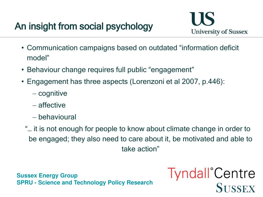 An insight from social psychology