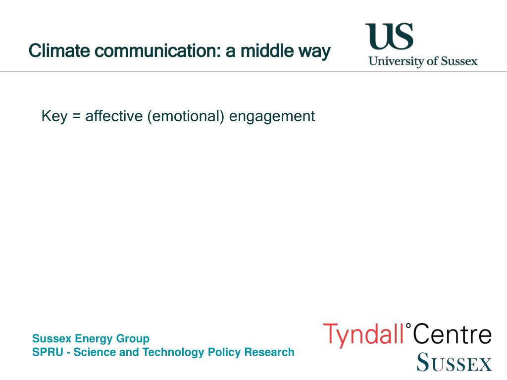 Climate communication: a middle way