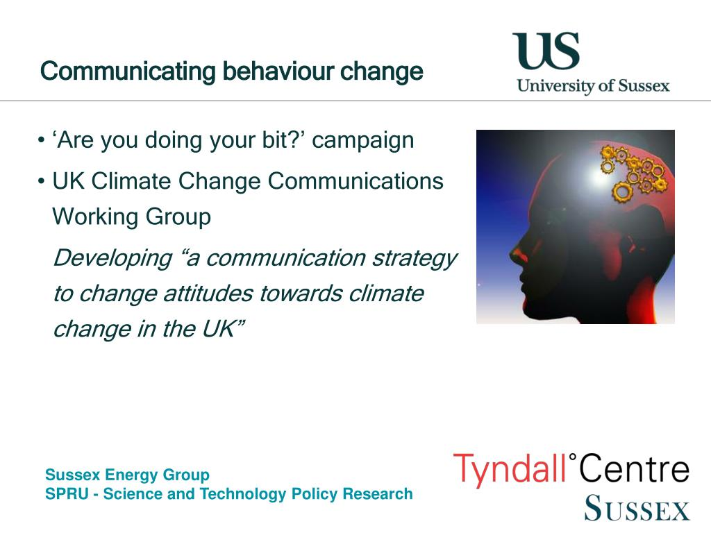 Communicating behaviour change