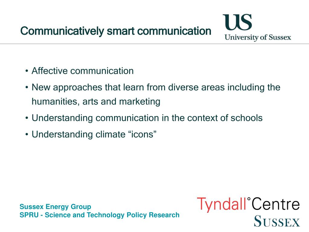 Communicatively smart communication